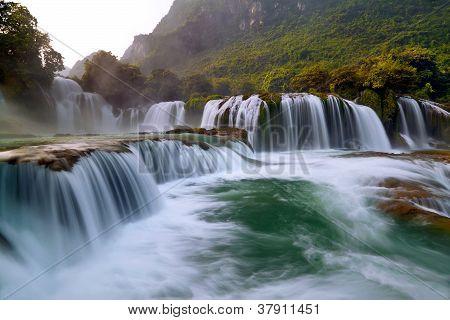 Ban Gioc - Detian Waterfall In Cao Bang, Vietnam poster