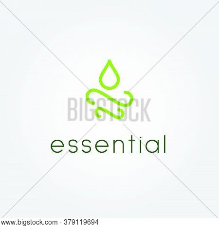 Oil Droplet Logo. Calm, Natural And Organic. Suitable For Beauty Products, Natural Oils, Essential O