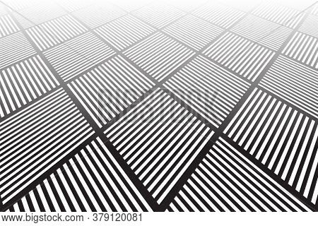 Abstract geometric pattern and texture in diminishing perspective.