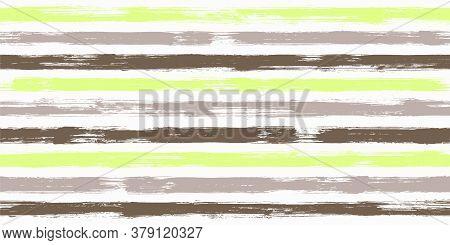 Vibrant Watercolor Brush Stripes Seamless Pattern. Ink Paintbrush Lines Horizontal Seamless Texture