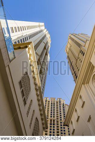 November 2019. Dubai Uae. Local Architecture In Dubai Marina In Dubaiuae