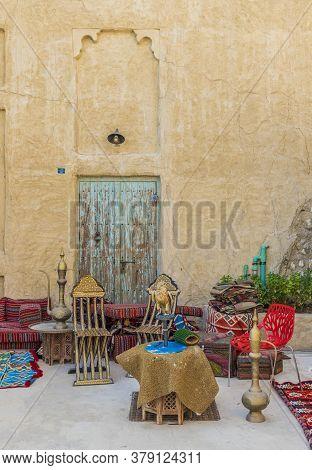 November 2019. Dubai Uae. A Traditional Outdoor Scene In Al Seef In Dubai Uae