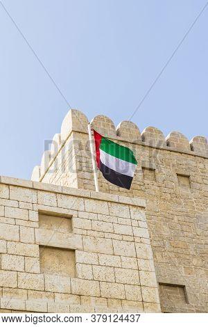 November 2019. Dubai Uae. Typical Local Architecture In Jumeraih Bay In Dubai Uae