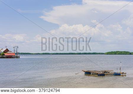 Chanthaburi, Thailand: April 15, 2019 Scenery Of Fishing Village (the No-land Village) On April 15,2