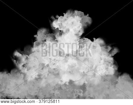 3D render of a smoke cloud effect background