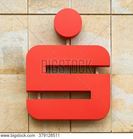 Potsdam, Germany - July 27, 2020: Symbol Of A Savings Bank Sparkasse In A Branch In The City Centre