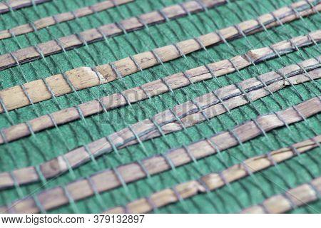 Diagonal Lines Pattern. Blue Slanting Lines. Abstract Geometric Background Design.. Macro Shot Backg