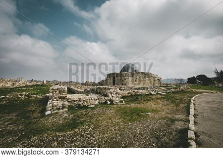 The Umayyad Palace At The Old Roman Citadel In Amman, Jordan