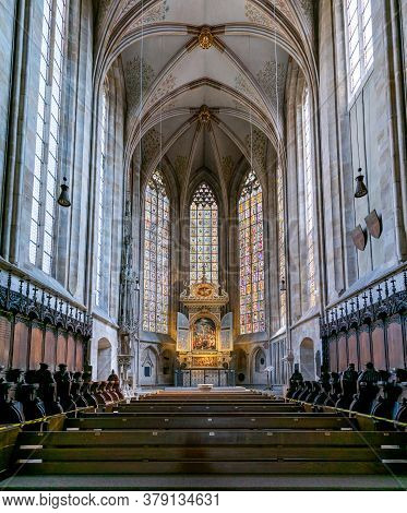 Interior View Of The Altar And Choir In St. Dionys Church In Esslingen