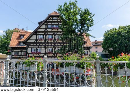 View Of The Half-timbered Houses In The Klein Venedig District In Esslingen