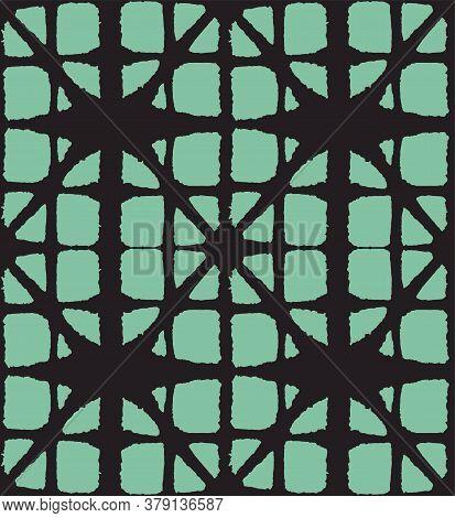 Japanese Tie Dye Seamless Pattern. Geo Curve Arc Design Glamour Kimono Textile. Bohemian Geometric A