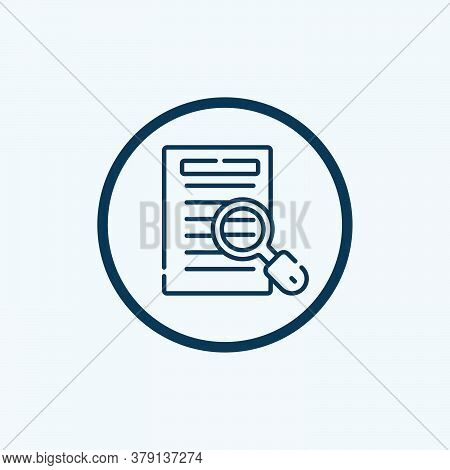 Case Study Icon Vector. Case Study Sign. Isolated Contour Symbol Illustration