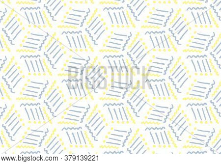 Abstract Background Pattern. Colored Repeating Lines. Hand-drawn Vector Illustration