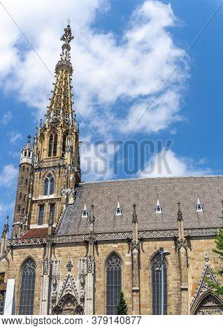 Esslingen, Bw / Germany - 22 July 2020: View Of The Frauenkirche Church In Esslingen Am Neckar