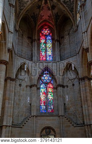Trier, Rp / Germany - 29 July 2020: Interior View Of The Historic Liebfrauenirche Church In Trier