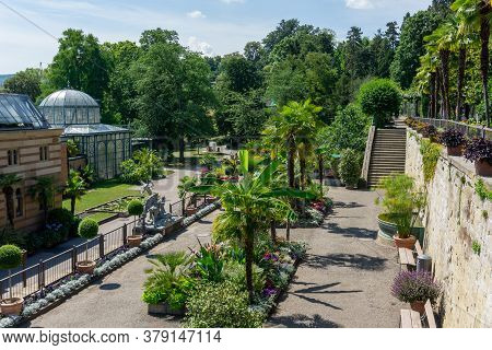 The Beautiful Grounds Of The Wilhelma Zoological And Botanical Gardens In Stuttgart