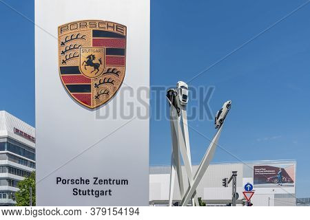 Stuttgart-zuffenhausen, Bw / Germany - 22 July 2020: View Of The Porsche