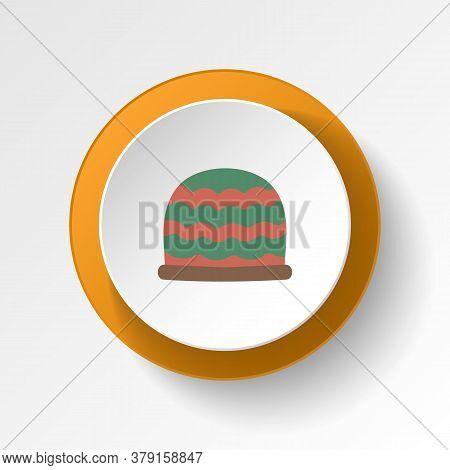Winter Hat Color Icon. Elements Of Winter Wonderland Multi Colored Icons. Premium Quality Graphic De