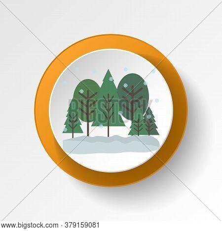 Trees Color Icon. Elements Of Winter Wonderland Multi Colored Icons. Premium Quality Graphic Design