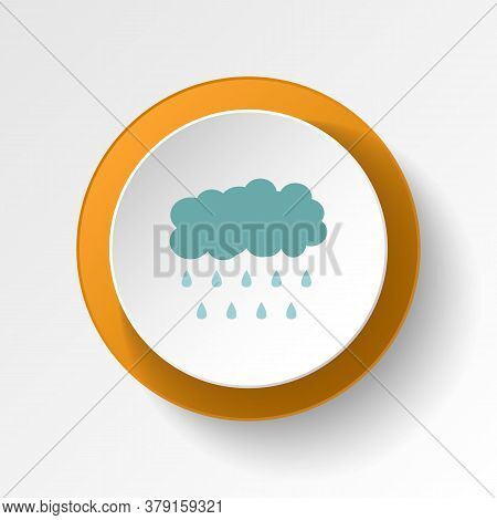 Storm Cloud Rain Color Icon. Elements Of Winter Wonderland Multi Colored Icons. Premium Quality Grap