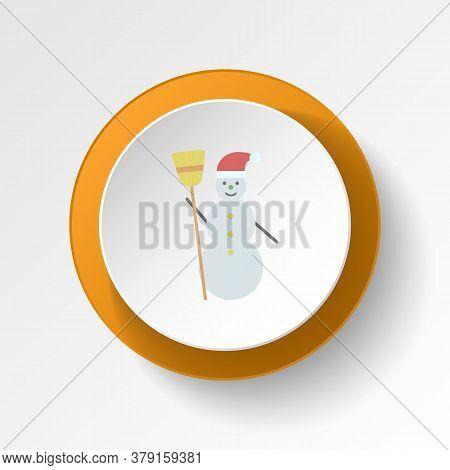 Snowman Color Icon. Elements Of Winter Wonderland Multi Colored Icons. Premium Quality Graphic Desig