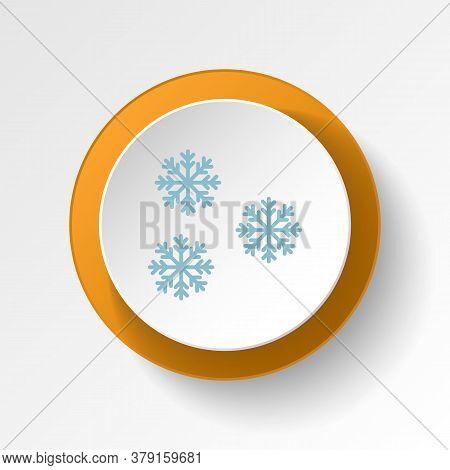Snowflake Color Icon. Elements Of Winter Wonderland Multi Colored Icons. Premium Quality Graphic Des