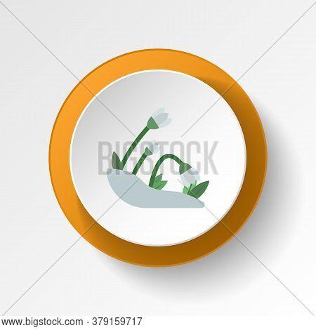 Snowdrop Color Icon. Elements Of Winter Wonderland Multi Colored Icons. Premium Quality Graphic Desi