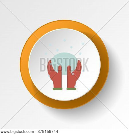 Snow Ball Color Icon. Elements Of Winter Wonderland Multi Colored Icons. Premium Quality Graphic Des