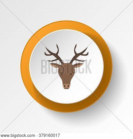 Reindeer Color Icon. Elements Of Winter Wonderland Multi Colored Icons. Premium Quality Graphic Desi