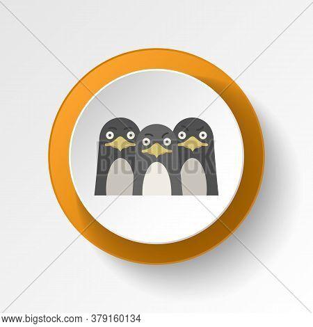 Penguin Color Icon. Elements Of Winter Wonderland Multi Colored Icons. Premium Quality Graphic Desig