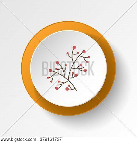 Berries Color Icon. Elements Of Winter Wonderland Multi Colored Icons. Premium Quality Graphic Desig