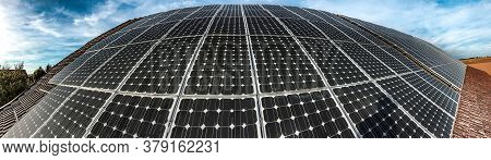 Solar Power Station, Power Plant Using Renewable Solar Energy, Solar Power Plant With Photovoltaic P