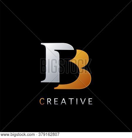 Modern Abstract Techno Letter B, Bb Logo Vector Template Design Concept Negative Space Initial Lette