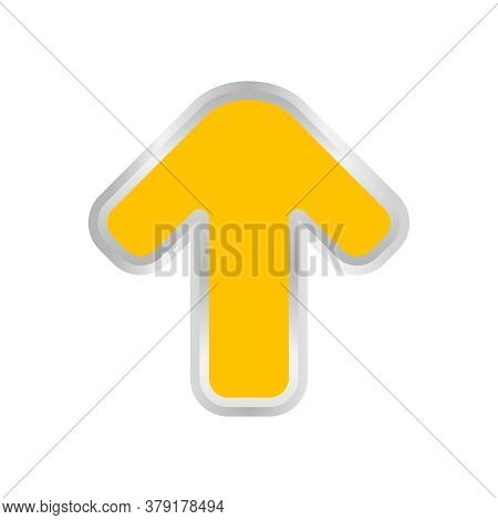 Yellow Arrow Pointing Up Isolated On White, Clip Art Yellow Arrow Icon Pointing To Up, Arrow Symbol