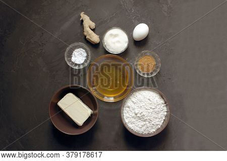 Do It Yourself Ginger Biscuits. Step By Step Recipe Step 1 Ingredients. Flour. Sugar, Butter, Egg, G
