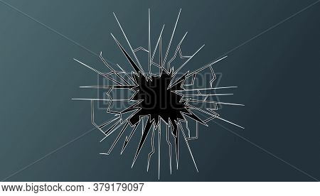 Crushed Glass Hand Drawn, Vector Illustration Design