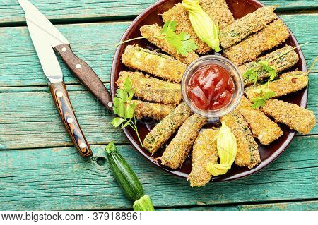 Deep Fried Zucchini Sticks