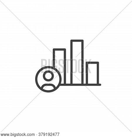 Political Candidate Rating Line Icon. Linear Style Sign For Mobile Concept And Web Design. Candidate