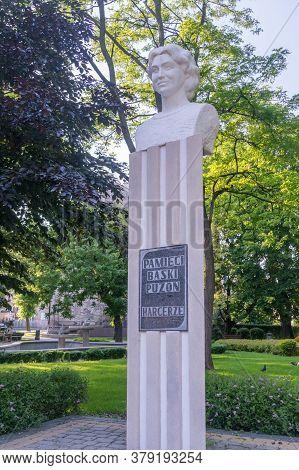 Jaroslaw, Poland - June 12, 2020: Monument To Czeslawa Romana Puzon, Pseudonym Baska In The Park In