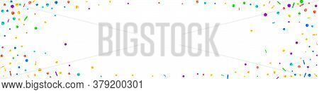 Festive Artistic Confetti. Celebration Stars. Festive Confetti On White Background. Amazing Festive