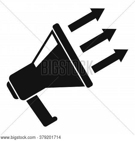 Megaphone Conversion Rate Icon. Simple Illustration Of Megaphone Conversion Rate Vector Icon For Web