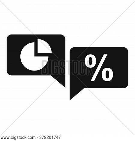 Conversion Rate Chat Icon. Simple Illustration Of Conversion Rate Chat Vector Icon For Web Design Is