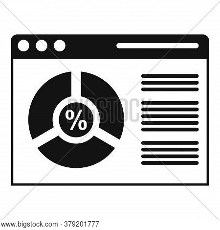 Conversion Rate Web Page Icon. Simple Illustration Of Conversion Rate Web Page Vector Icon For Web D