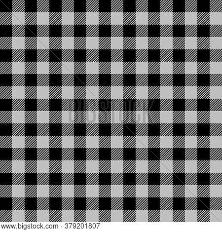 Tartan Plaid. Scottish Pattern In Black And Silver Cage. Scottish Cage. Traditional Scottish Checker