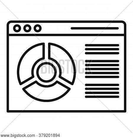 Conversion Rate Web Page Icon. Outline Conversion Rate Web Page Vector Icon For Web Design Isolated