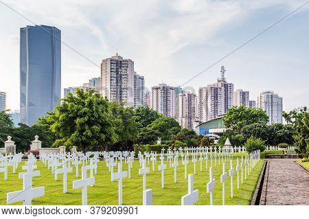 Jakarta, Indonesia - October, 28, 2017: Dutch Field Of Honor Menteng Pulo In Jakarta, Java Island In