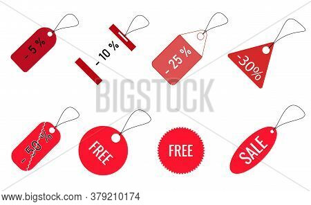 Samples Of Black Friday Tags, Christmas Tags, Store Tags For Sample.