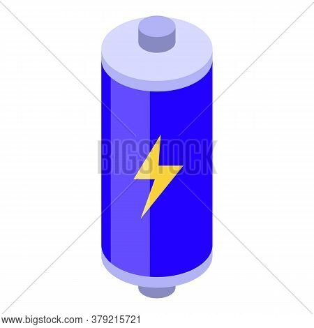 Charge Battery Breakthrough Icon. Isometric Of Charge Battery Breakthrough Vector Icon For Web Desig