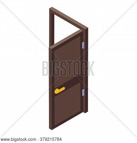 Breakthrough Open Door Icon. Isometric Of Breakthrough Open Door Vector Icon For Web Design Isolated