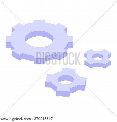 Breakthrough Gear Wheel Icon. Isometric Of Breakthrough Gear Wheel Vector Icon For Web Design Isolat